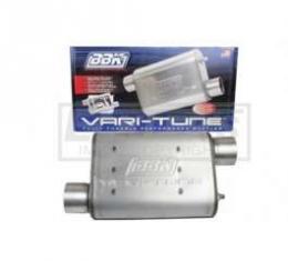 Truck BBK 2-3/4 Vari-Tune Adjustable Stainless Steel Performance Muffler, Offset