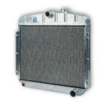 Chevy Truck Aluminum Radiator, With 1 Tubes, Dual Core, Griffin, 1955-1959