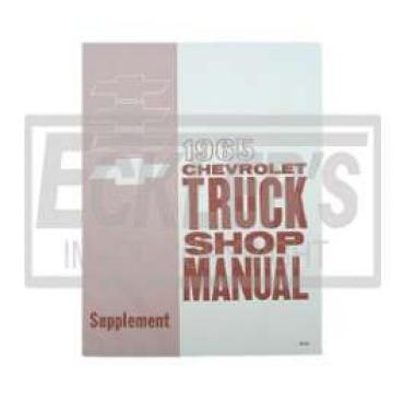 Chevy Truck Shop Manual, Supplement, 1965
