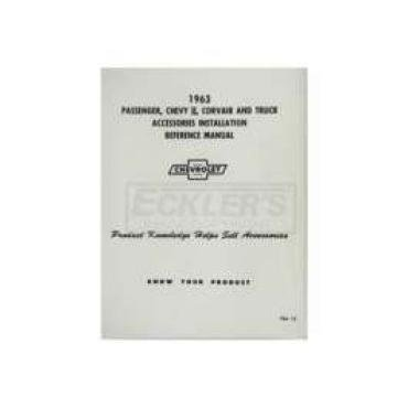 Chevy Truck Accessories Installation Manual, 1963
