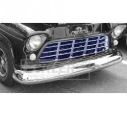 Chevy Truck Grille, Chrome, 1955-1956