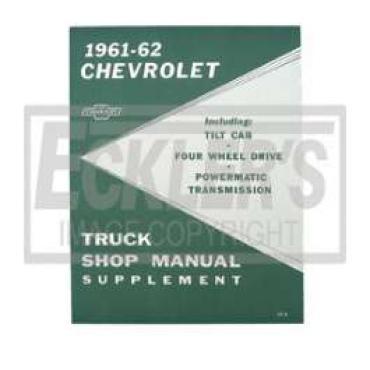 Chevy Truck Shop Manual, Supplement, 1961-1962