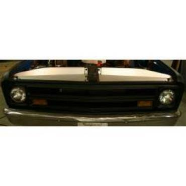 Chevy & GMC Filler Panels, Core Support, Clear Anodized, 1969-1972