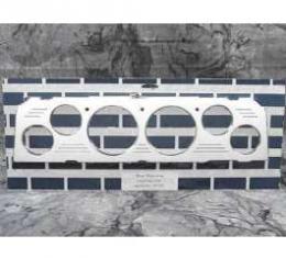 Chevy Truck Dash Insert, Polished Billet Aluminum, Classic Instruments, 1964-1966