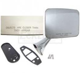 Chevy Or GMC Truck Outer Door Mirror, Convex Lens, Right, 1970-1972