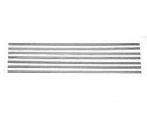 Chevy Truck Bed Strips, Steel, 103, Longhorn, Fleet Side, 1969-1972