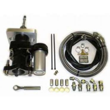 Chevy Truck Brake Booster, Hydraboost, Short Pushrod, With Lines, 1973-1979