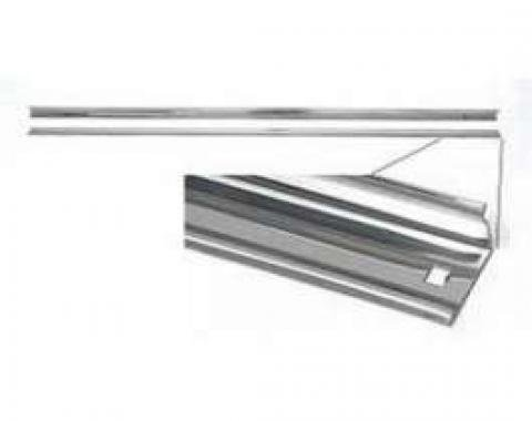 Chevy Truck Angle Bed Strips, Polished Stainless Steel, Short Bed, Step Side, 1954-1959
