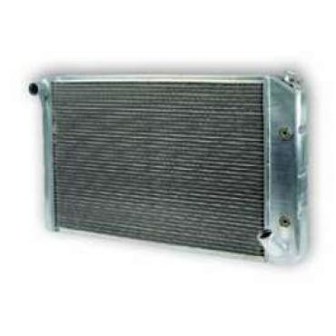 Chevy Truck Aluminum Radiator, Griffin, With 1 Tubes, Dual Core, 1967-1972