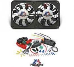 Chevy Truck Fan Kit, Dual Electric, Flex-A-Lite, 12, 500CFM