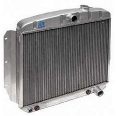 Chevy Truck Aluminum Radiator, With 1-1/4 Tubes, Dual Core, Griffin, 1955-1959