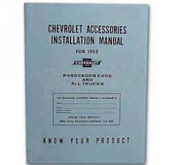 Chevy Truck Accessories Installation Manual, 1952