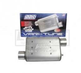 Truck BBK 2-1/2 Vari-Tune Adjustable Stainless Steel Performance Muffler, Offset