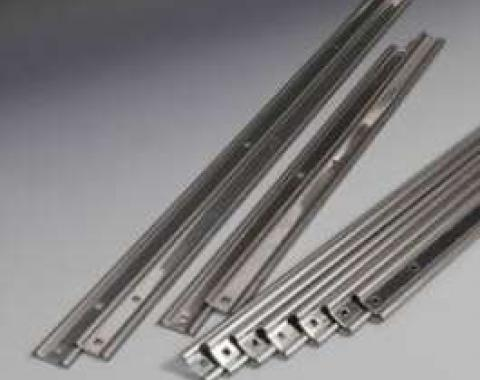 Chevy Truck Bed Strips, Stainless Steel, Unpolished, Long Bed, Step Side, 1960-1962