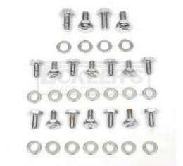 Chevy And GMC Truck Bowtie Valve Cover Bolts, Big Block, Chrome, For Cars With Steel Valve Covers, 1965-1987