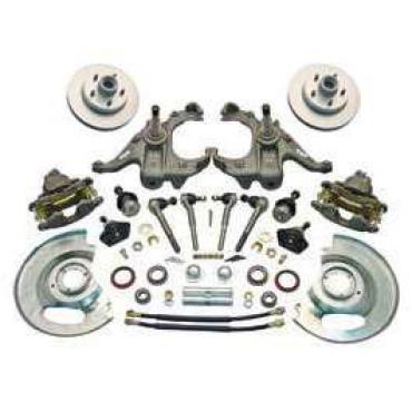 Chevy Truck 5-Lug Disc Brake Kit, With Stock Height Spindles, 1963-1970