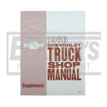 Chevy Truck Shop Manual, Supplement,1966