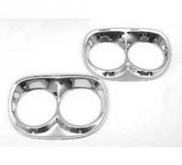 Chevy Truck Headlight Bezels, Chrome, 1958-1959