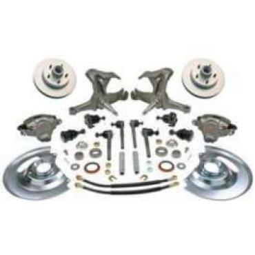 Chevy Truck 6-Lug Disc Brake Kit, With 2-1/2 Drop Spindle,1963-1970