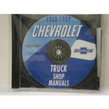 Chevy Truck Shop Manual, On CD, 1958-1959