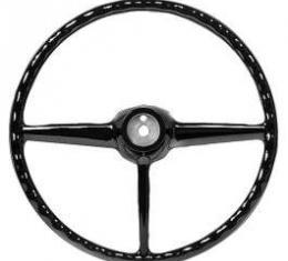 Chevy Truck Steering Wheel, Black, 1947-1953