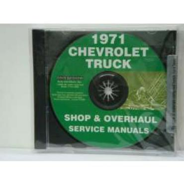Chevy Truck Shop, Service & Repair Manuals, On CD, 1971