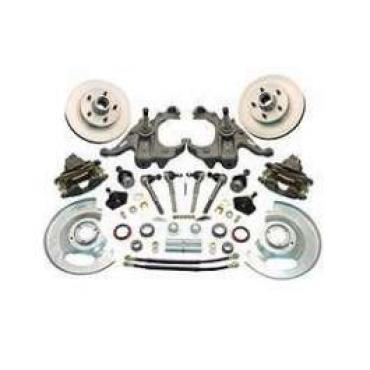 Chevy Truck Disc Brake Kit, 5-Lug, With 2 Drop Spindles, 1963-1970