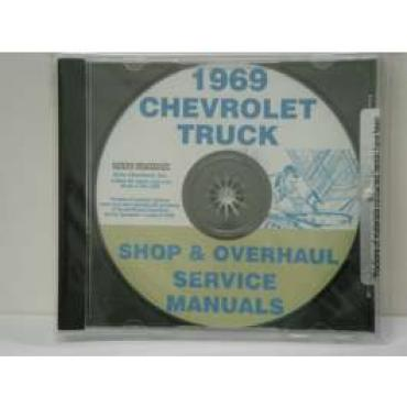 Chevy Truck, Shop, Service & Repair Manuals, On CD, 1969