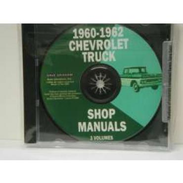 Chevy Truck Shop Manual, On CD, 1960 & 1962