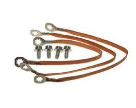 Chevelle Ground Wire Strap Kit, Small Or Big Block, 1966
