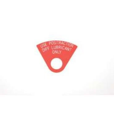 Chevelle Plug Tag, Positraction, 1968-1972