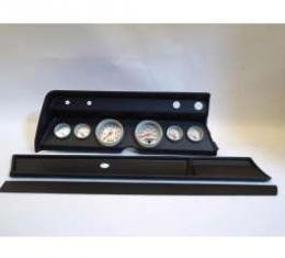 Chevelle Instrument Cluster Panel, Black Finish, With Ultra-Lite Gauges, 1967