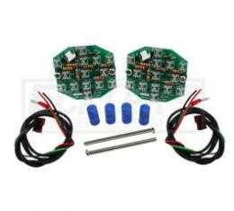 Chevelle LED Taillight Conversion Kit, Except Wagon, 1967