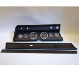 Chevelle Instrument Cluster Panel, Black Finish, With Sport Comp Gauges, 1966