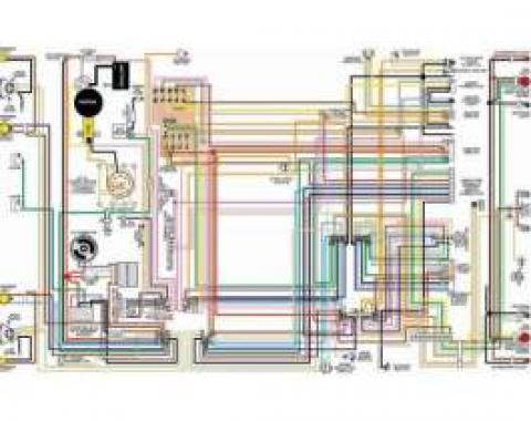 Chevelle & Malibu Color Laminated Wiring Diagram, 1964-1975