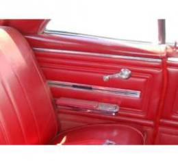 PUI 1966 Chevrolet Chevelle Preassembled Rear Door Panels, Coupe 66CHPDC