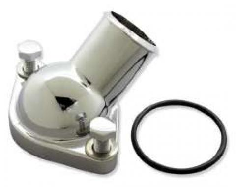 Chevelle Thermostat Housing, Chrome, With O-Ring Seal, 1964-1965