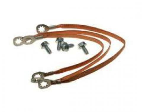 Chevelle Ground Wire Strap Kit, Small Or Big Block, 1967
