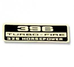 Chevelle Valve Cover Decal, 396 Turbo-Fire 325 hp, 1965