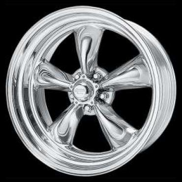 Chevelle Torq-Thrust II Wheel, Polished, 15 x 8, American Racing, 1964-1972