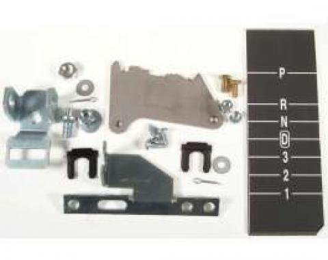 Chevelle Shifter Conversion Kit, Powerglide To 700R4, 200-4R Or 4L60 Transmission, 1971-1972