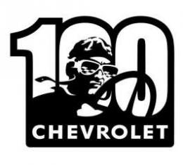 Chevrolet Metal Sign,100th,16 X 13