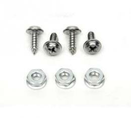 Chevelle Glove Box Door & Liner Mounting Screws, For Cars Without Air Conditioning, 1968-1969