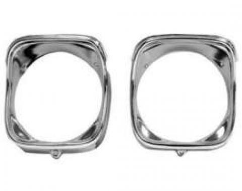 Chevelle Headlight Bezels, Inner & Outer, Right, 1968
