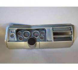 Chevelle Instrument Cluster Panel, Aluminum Finish, With Ultra-Lite Gauges, 1969