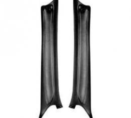 Chevelle Pillar Moldings, Interior, Black, 2-Door Coupe, 1968-1969