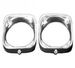 Chevelle Headlight Bezels, Inner & Outer, Left, 1968
