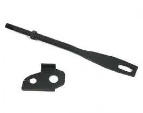 Chevelle Floor Shifter Upper Support Rod & Bracket, Manual Transmission, Muncie 4-Speed, 1968-1972