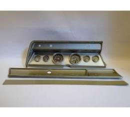 Chevelle Instrument Cluster Panel, Aluminum Finish, With Carbon Fiber Series Gauges, 1966