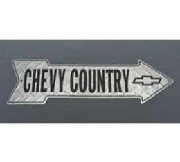 Chevy Country Diamond Plate Aluminum Arrow Sign